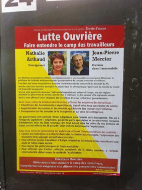 affiche lutte ouvriere élections européennes