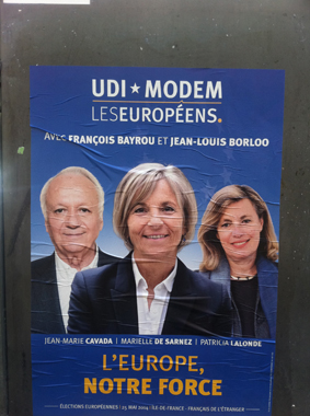affiche du modem, élections européennes